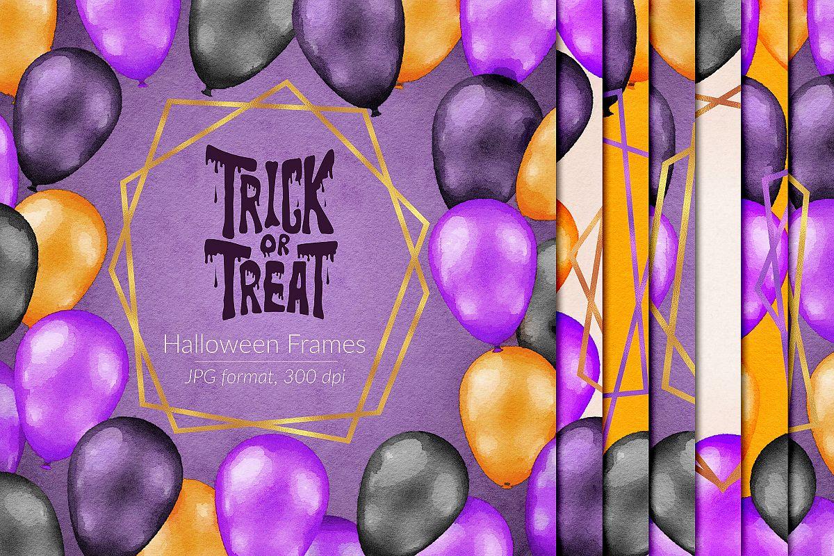 Watercolor Halloween Frames example image 1