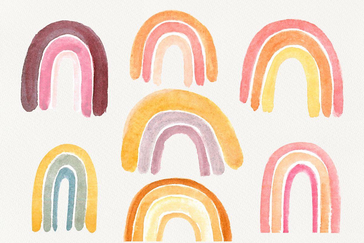 Watercolor Rainbow Clipart