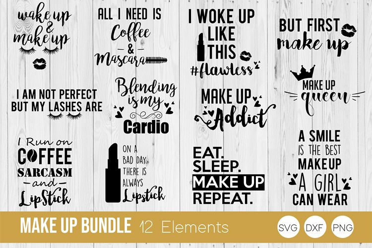 Make Up Bundle, Beauty SVG, DXF, PNG Cut Files example image 1