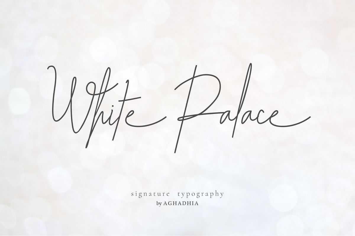 White Palace Script - Font Duo example image 1