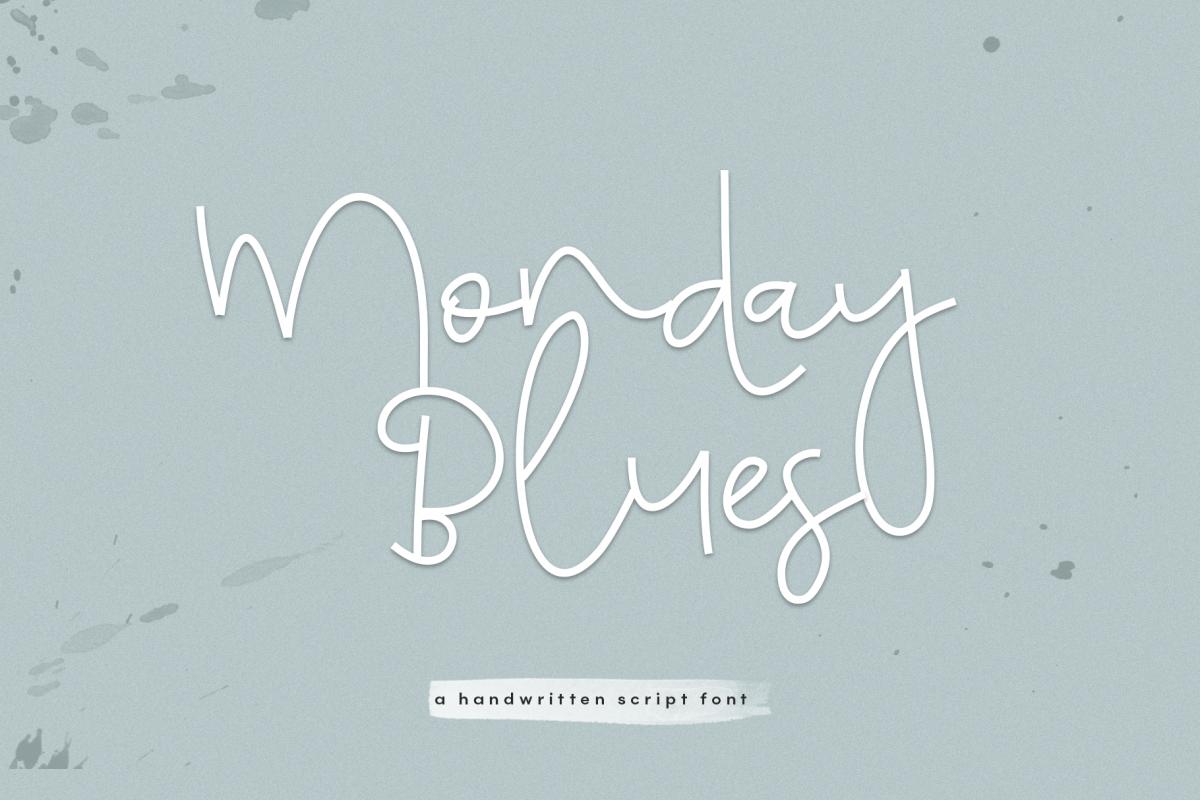 Monday Blues - Fun Handwritten Script Font example image 1