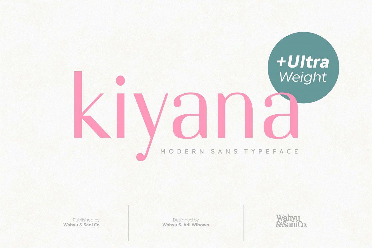 Kiyana | Modern Sans Font example image 1