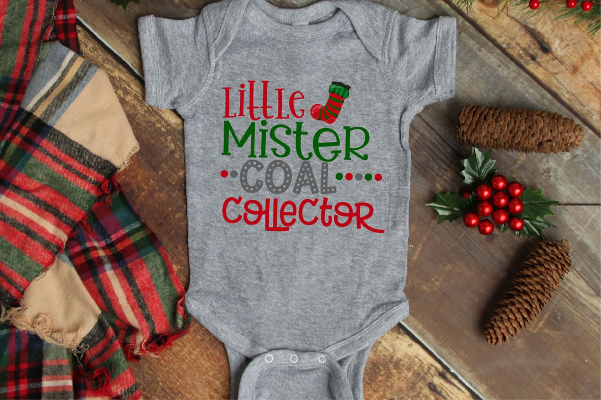 Little Mister Coal Collector, Naughty List SVG, Christmas example image 1
