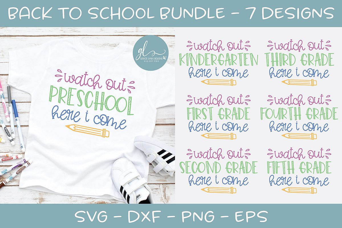 Back To School Bundle - Watch Out School - 7 SVG Cut Files example image 1