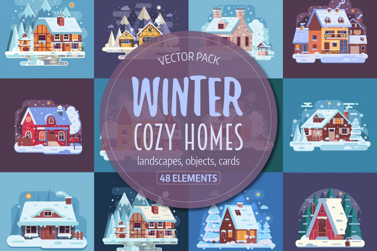 Winter Cozy House Collection example image 1