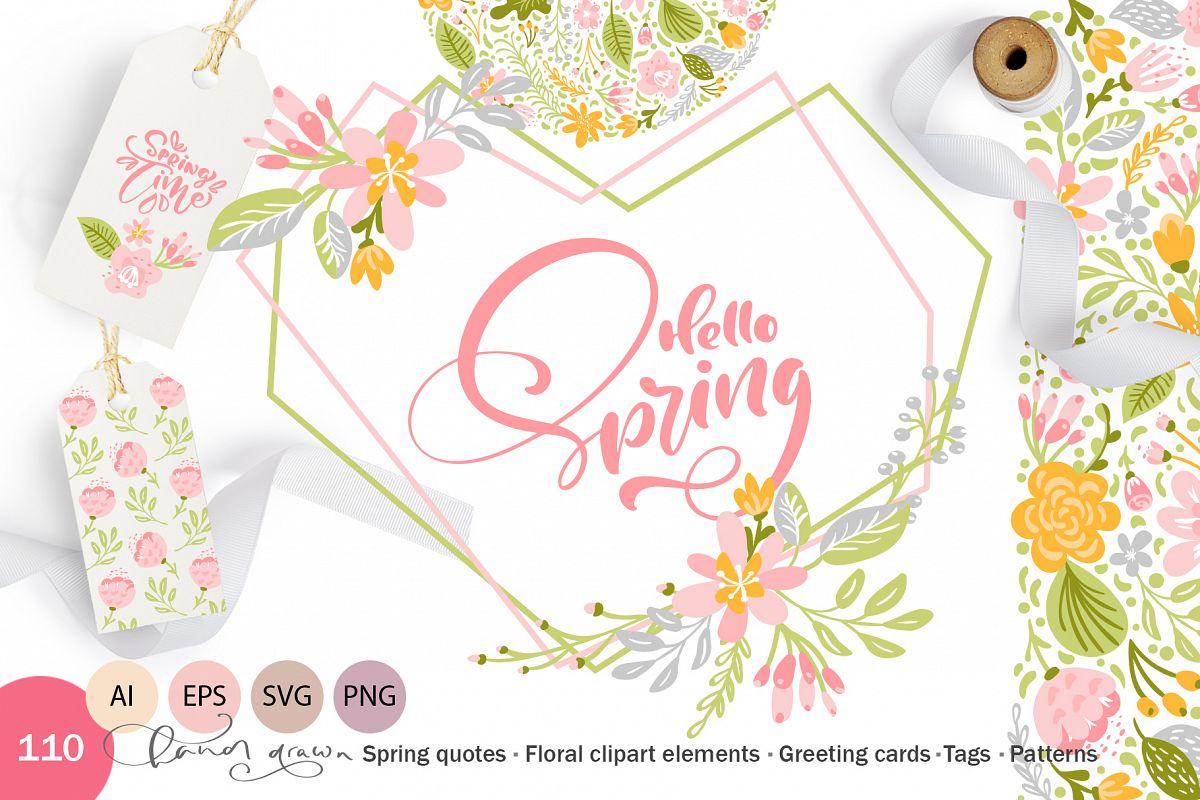 Fresh Feeling Spring Vector Kit SVG example image 1