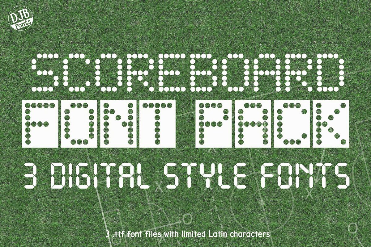 Scoreboard Font Pack example image 1