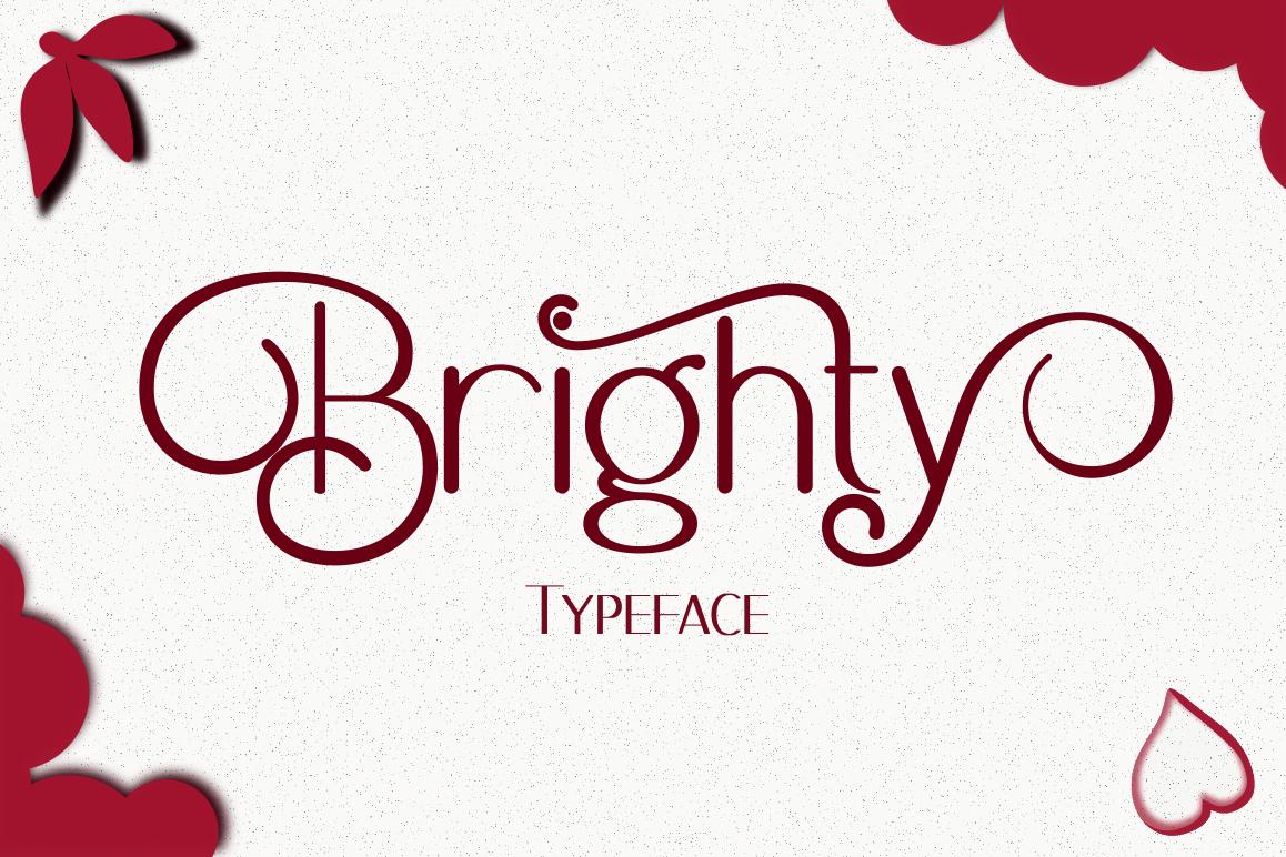 Brighty Sans Script example image 1