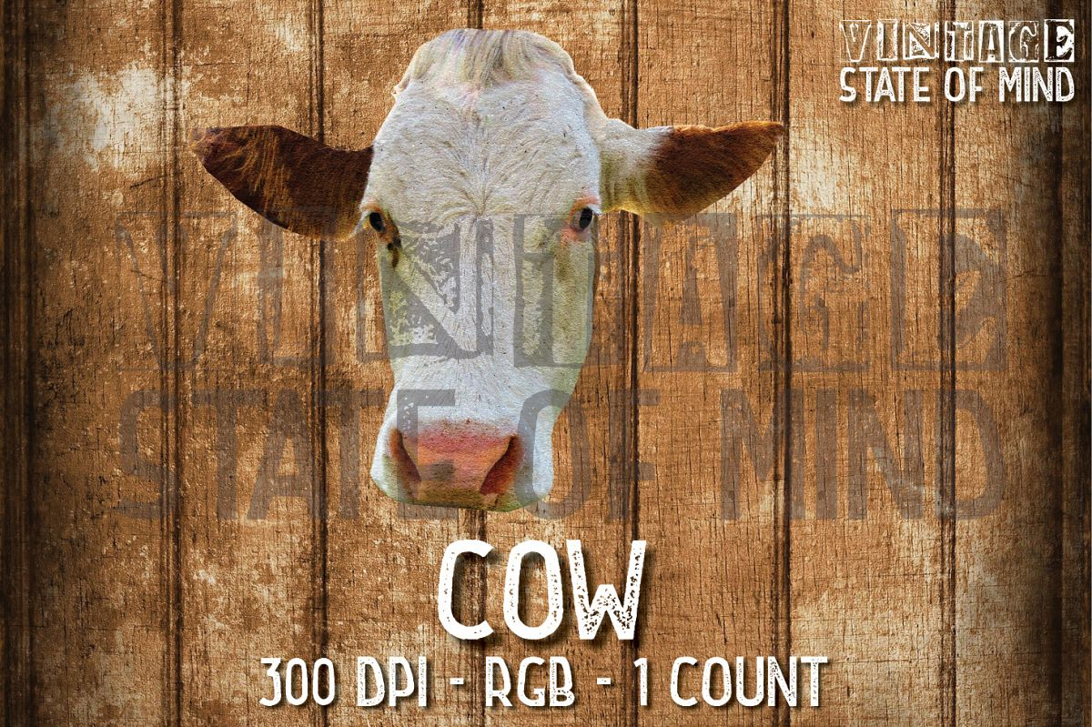 Cow Sublimation Graphics example image 1