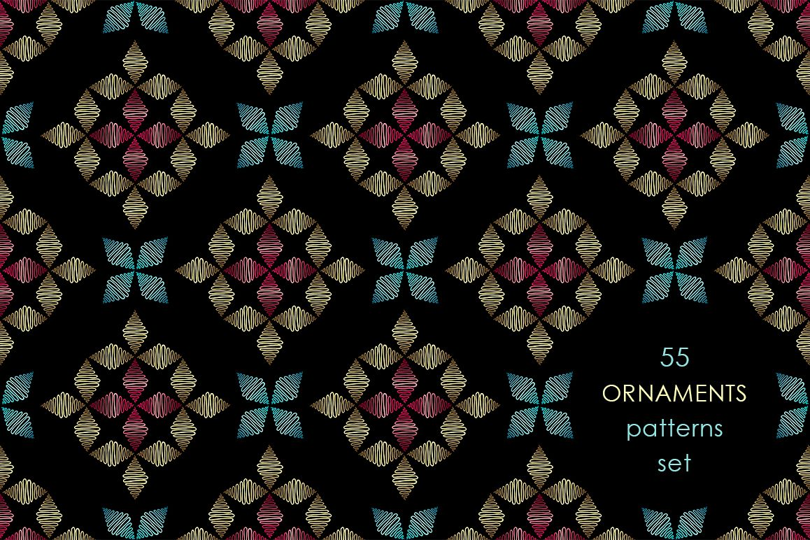 55 ornaments patterns collection example image 1