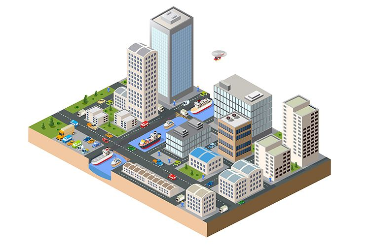 Streets, skyscrapers, cars example image 1