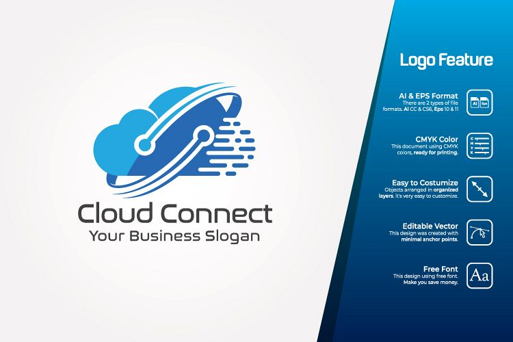 Cloud connect Logo Template example image 1