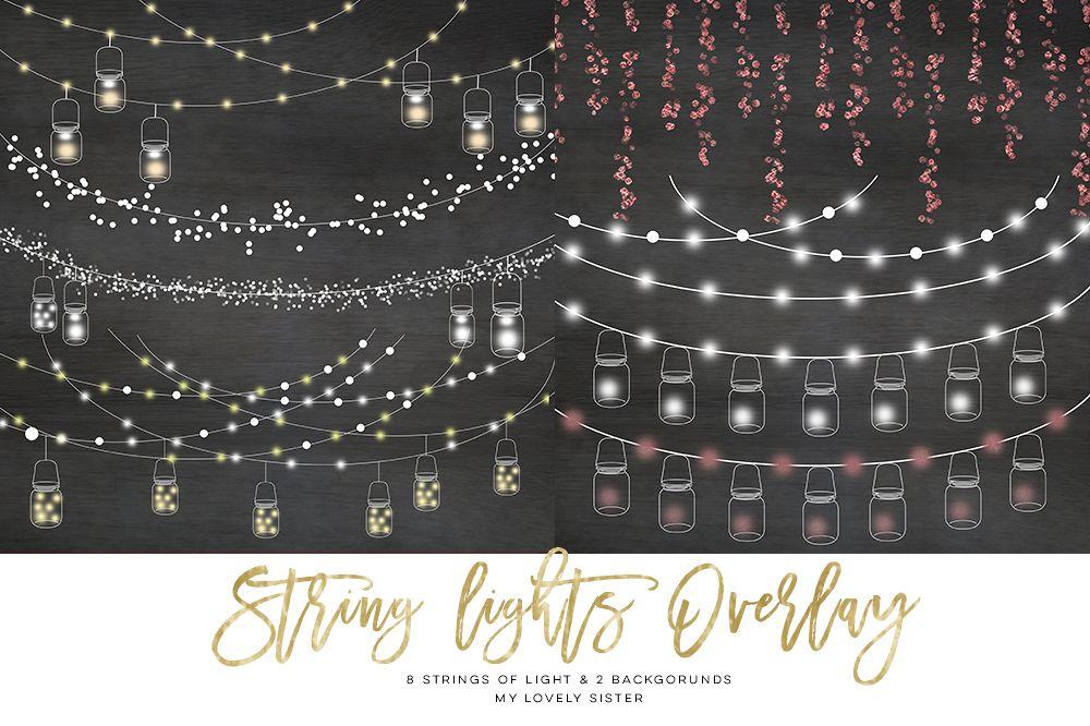 String Lights Clipart Delectable String Lights Clipart Mason Jar Chalkboard Party Lights