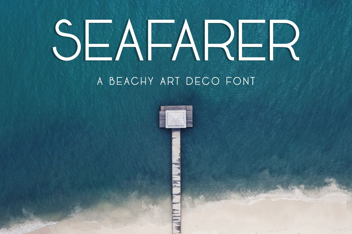 Seafarer | A Beachy Art Deco Font example image 1