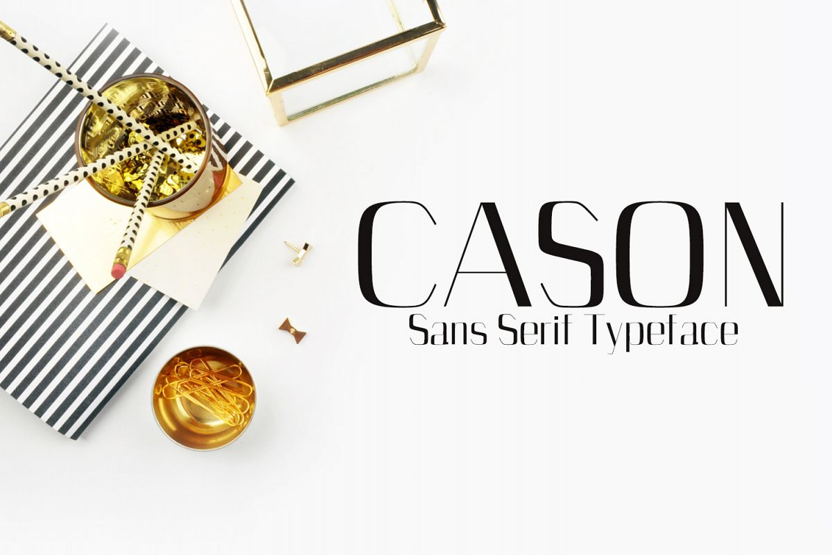 Cason Sans Serif Typeface example image 1