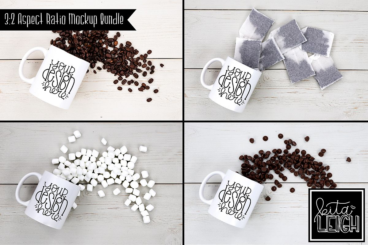 11 oz Mug Mockup with Chocolate, Coffee, Tea, and Mallows example image 1
