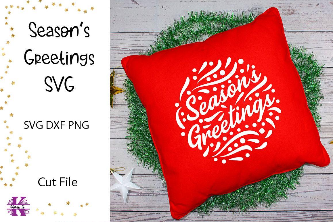 Season's Greetings SVG Cut File example image 1