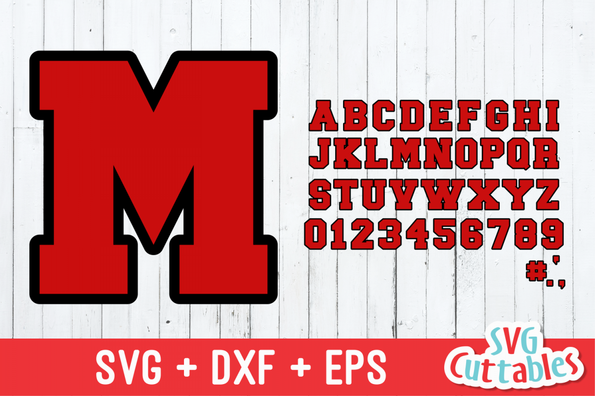 Outlined Sport Alphabet | Cut File example image 1
