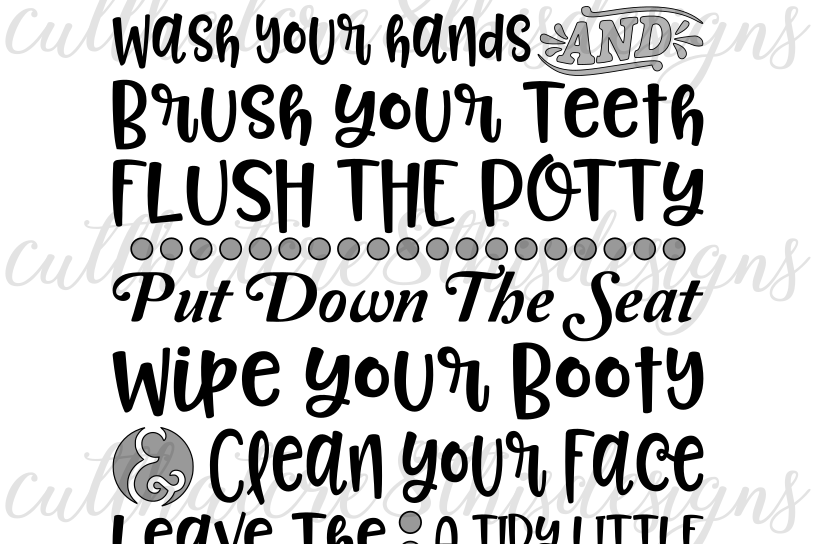 Bathroom Rules For The Home Washroom Quotes Sayings