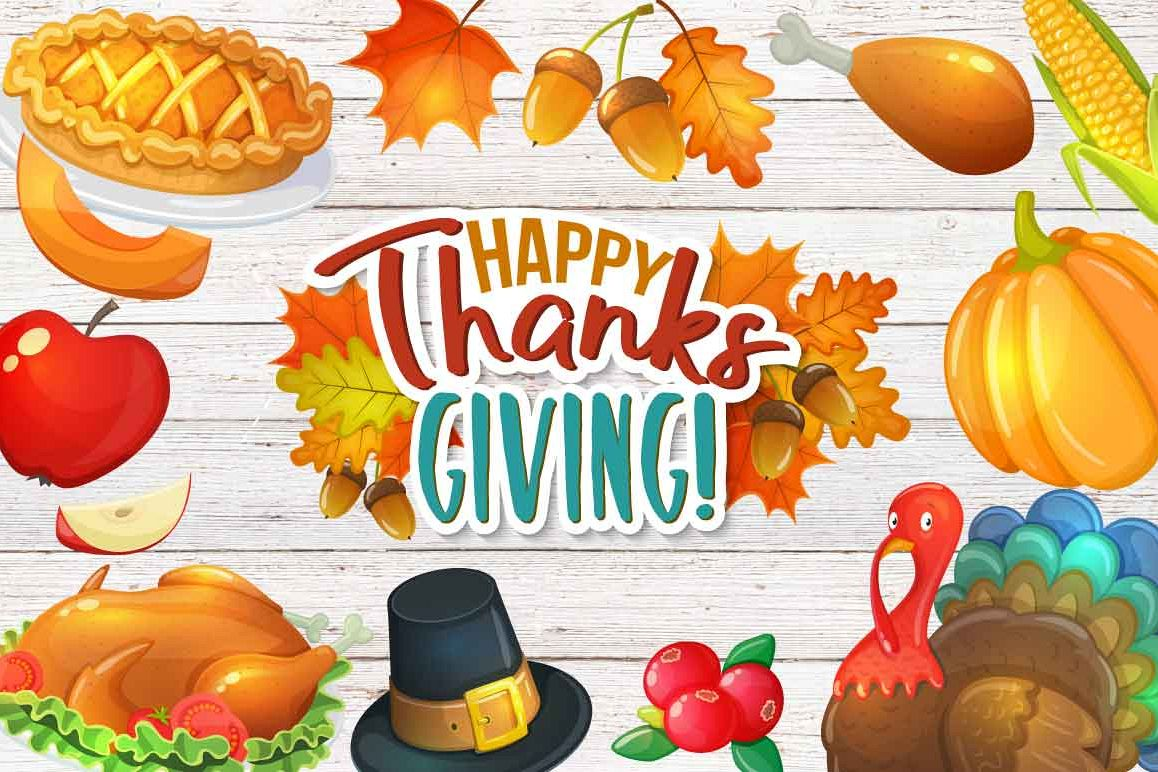 Thanksgiving day - vector Illustrations example image 1