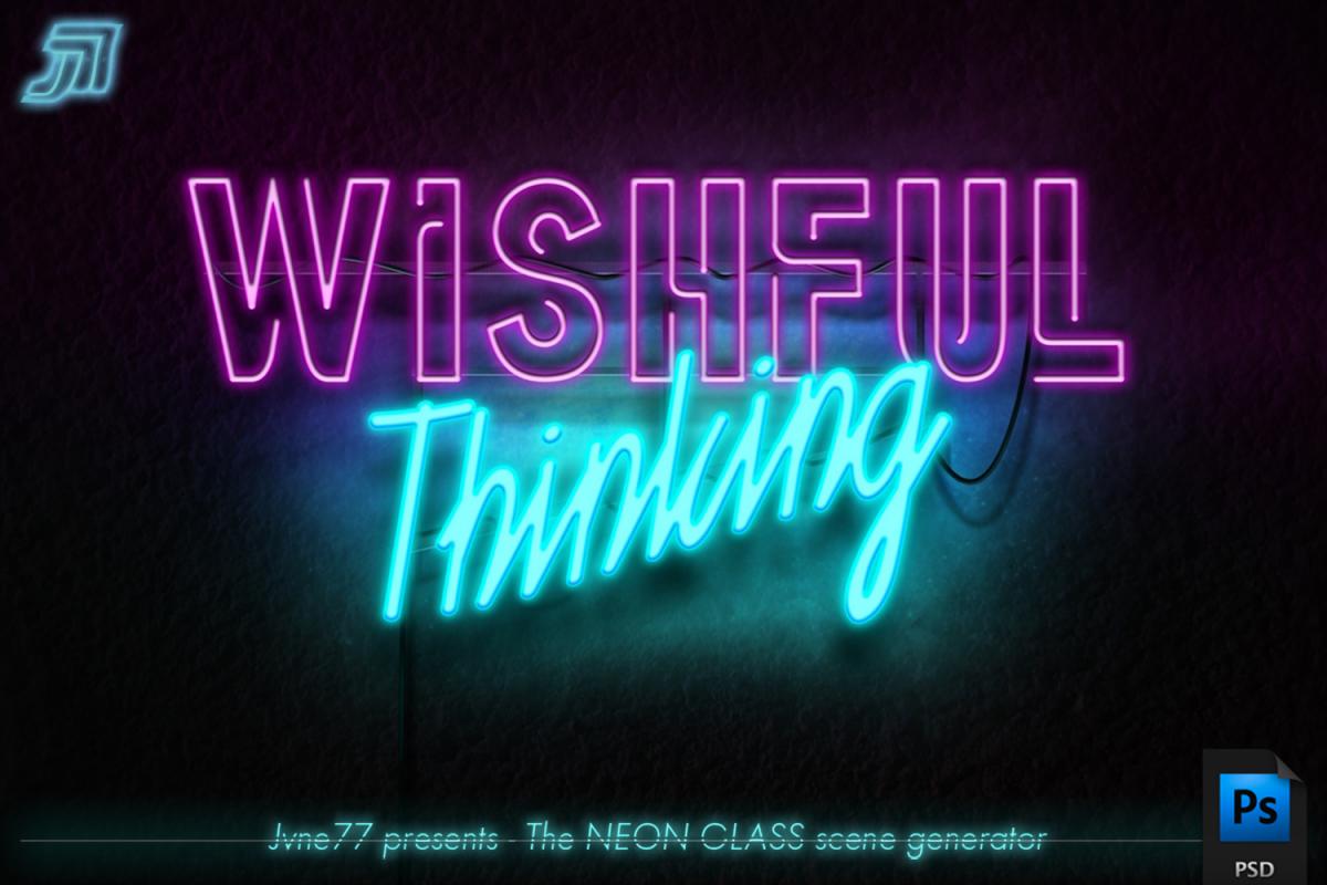 NeonGlass Scene Generator PSD example image 1