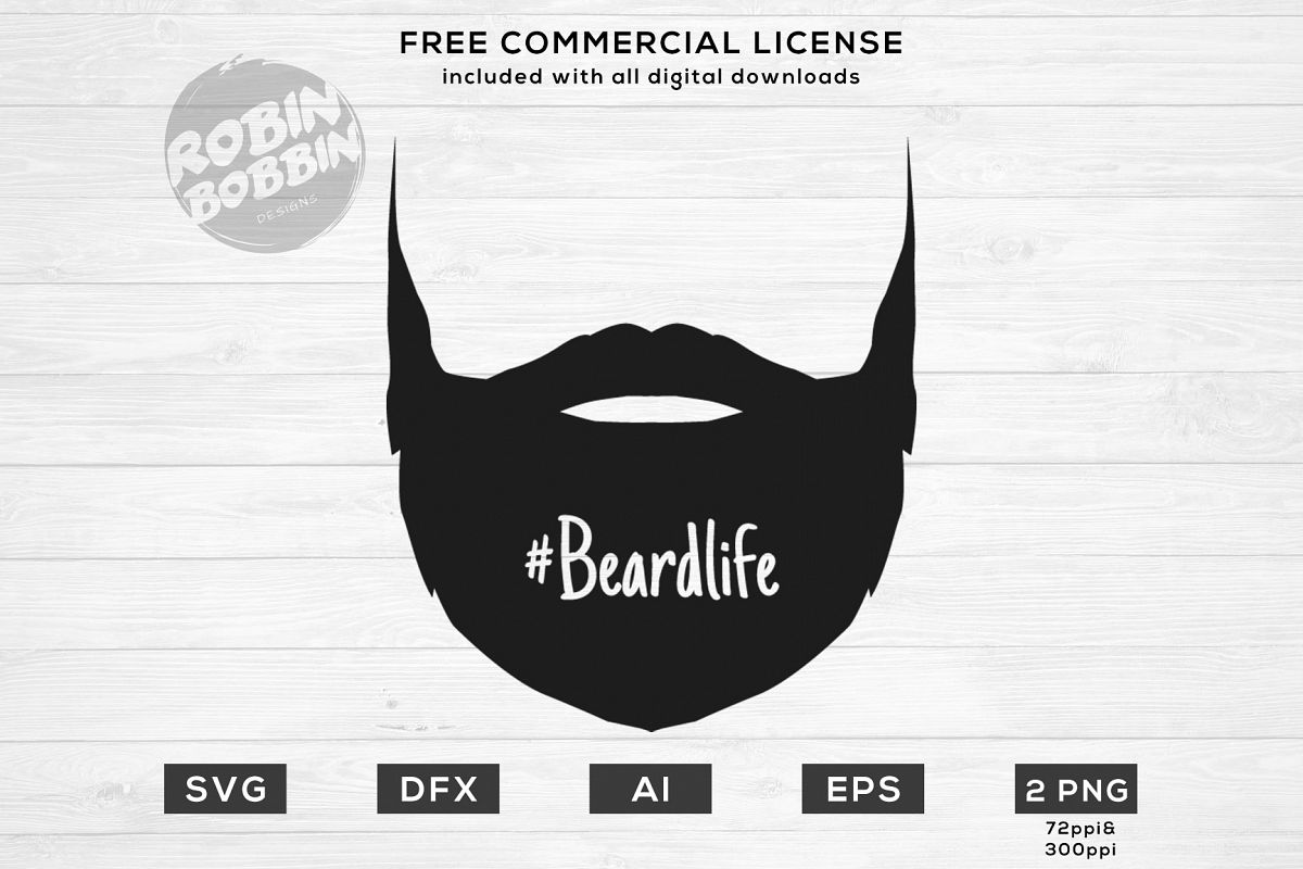 Beard Life Design for T-Shirt, Hoodies, Mugs and more example image 1