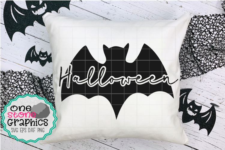Halloween svg,bat svg,halloween cut file,pillow case svgs, example image 1