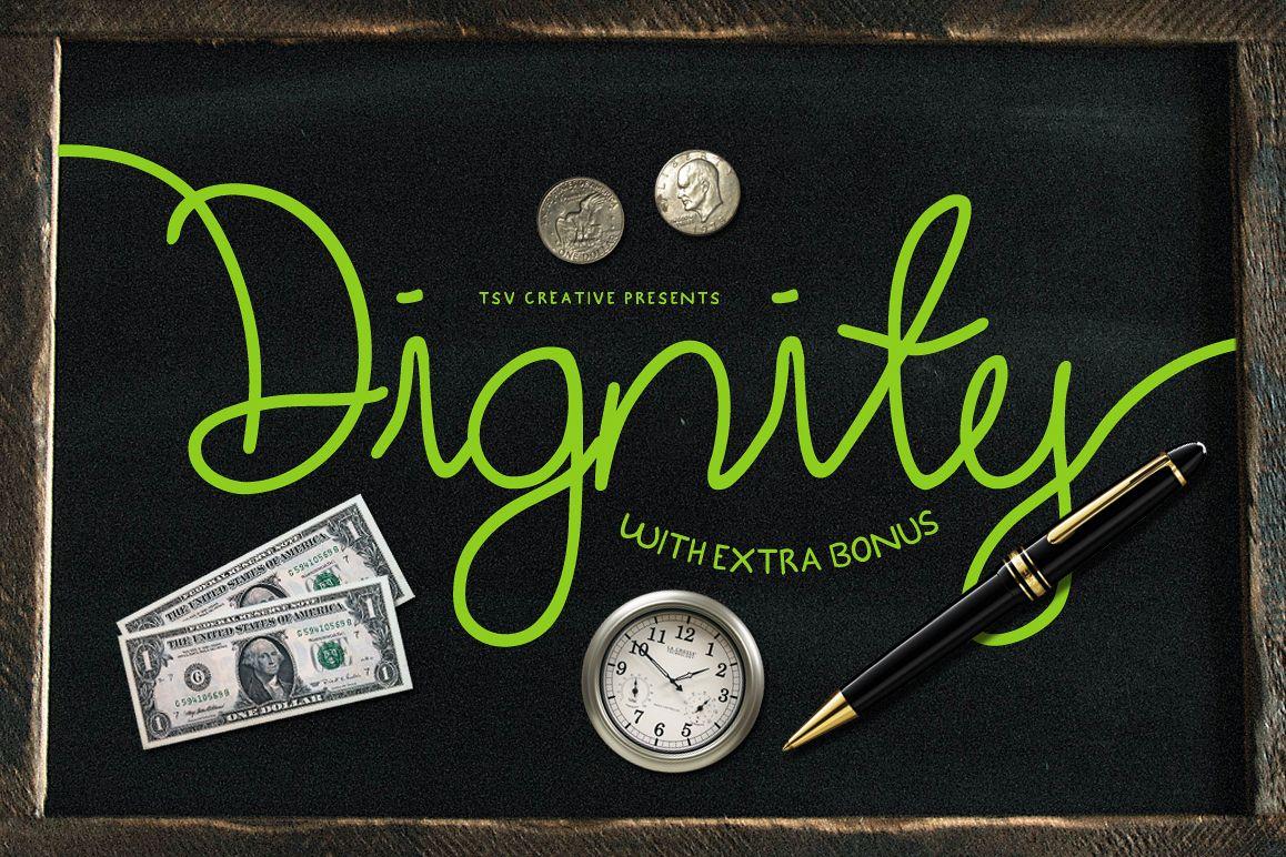 Dignity Cursive + Bonus example image 1
