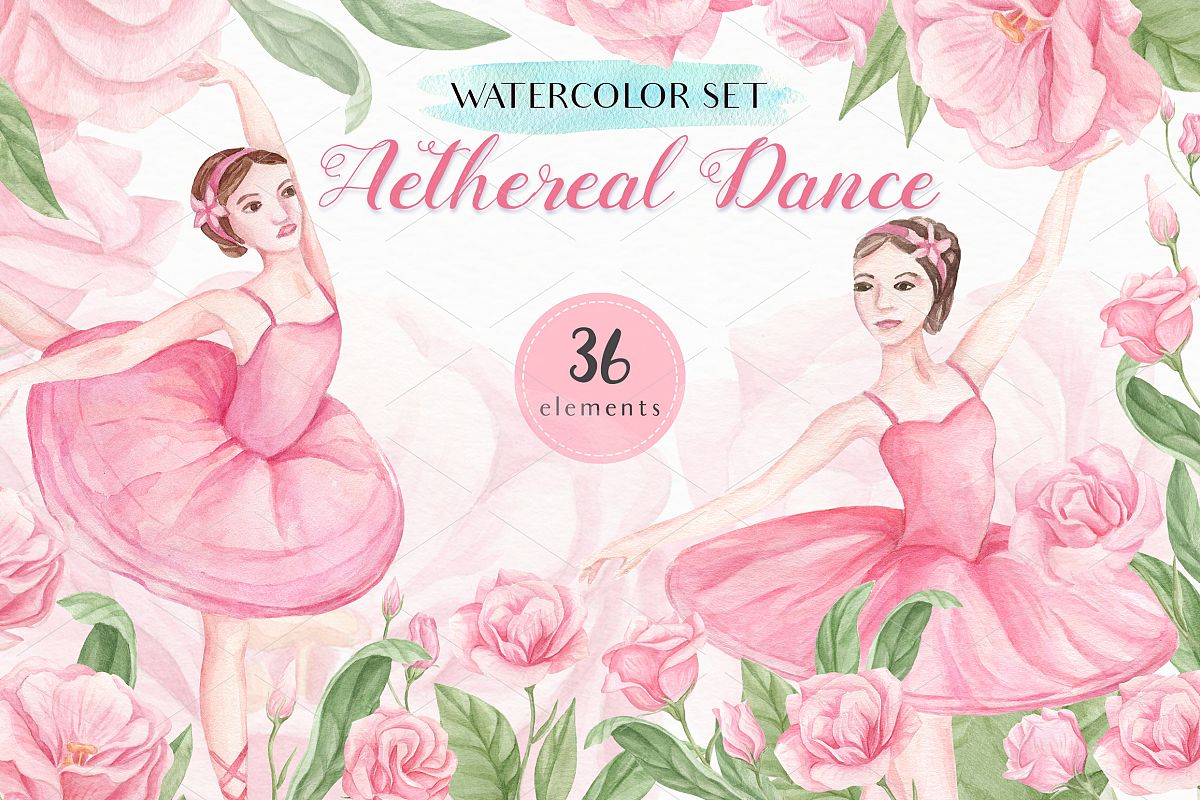Aethereal Dance - Watercolor Set example image 1