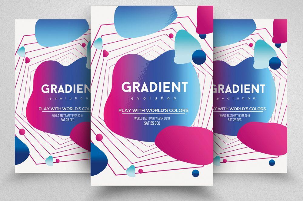 Gradient Electro Futuristic Flyer example image 1