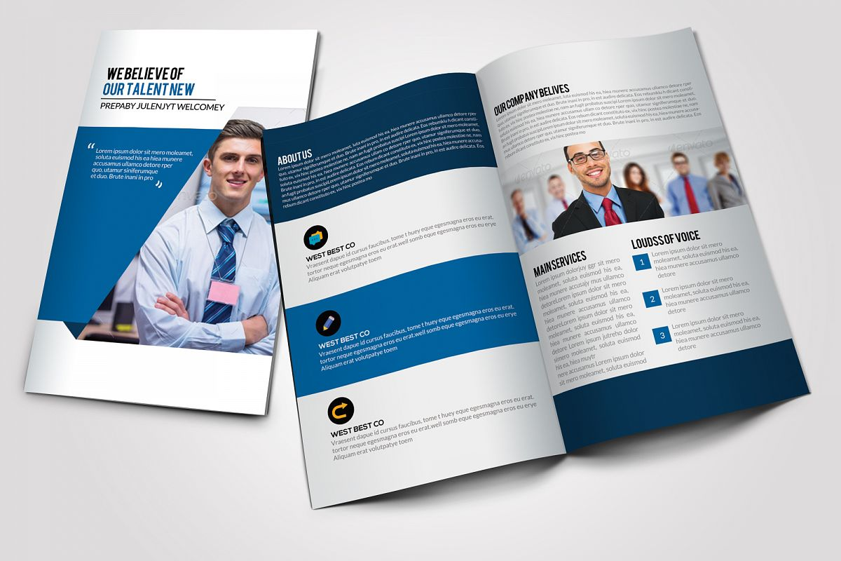 Business Corporate Bifold Brochure example image 1