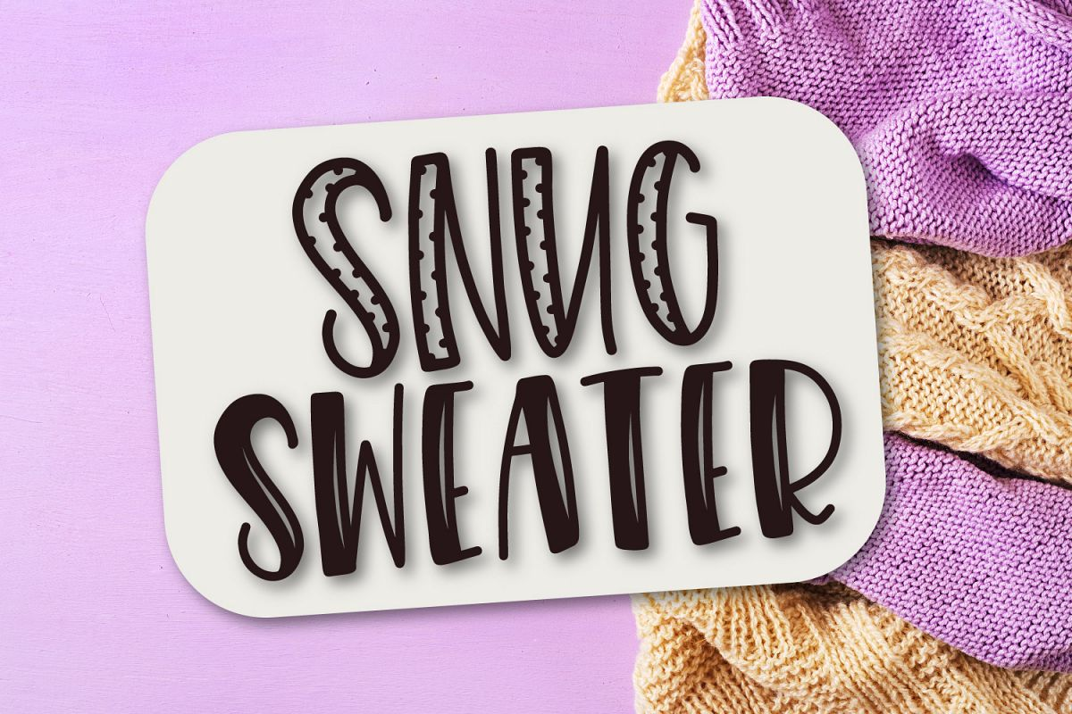 Snug Sweater - A Mixed Style Font Duo example image 1
