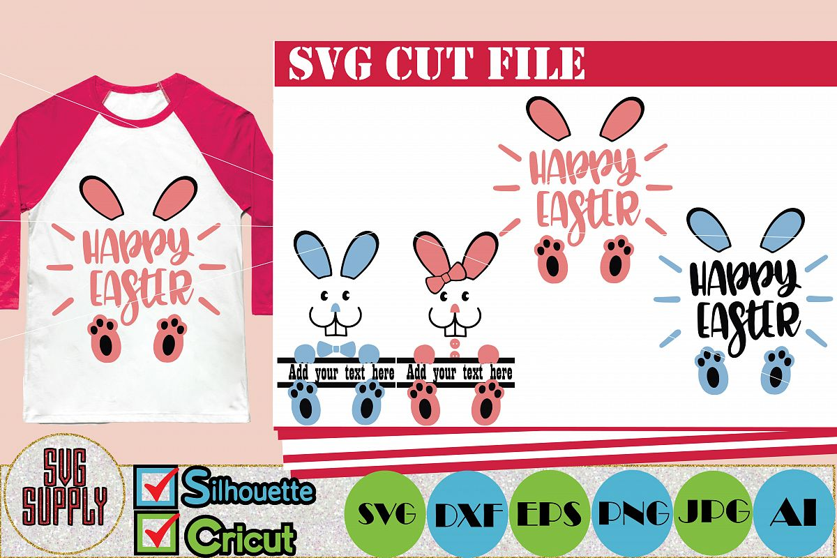 Easter Bunny SVG Cut File example image 1
