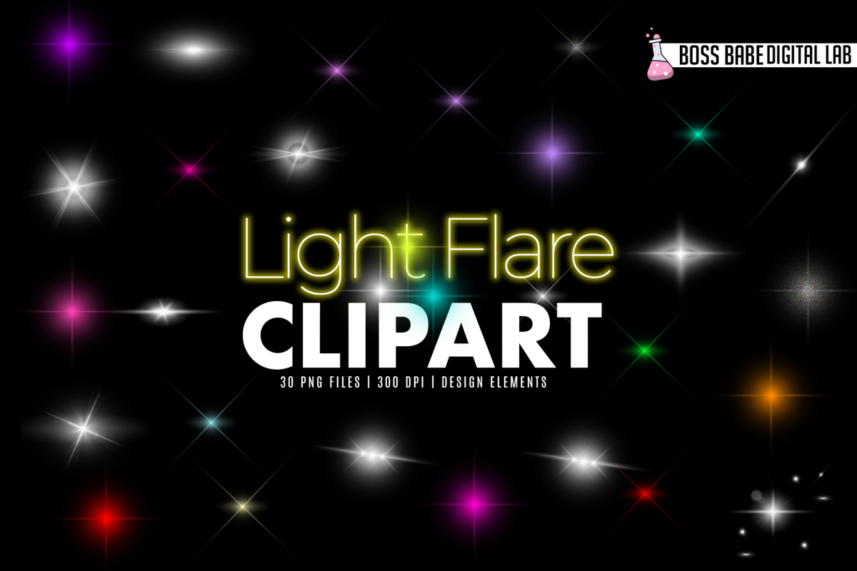 Light Flare Clipart example image 1