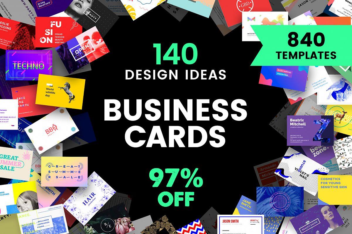 Business Card Design Templates Bundle SALE example image 1
