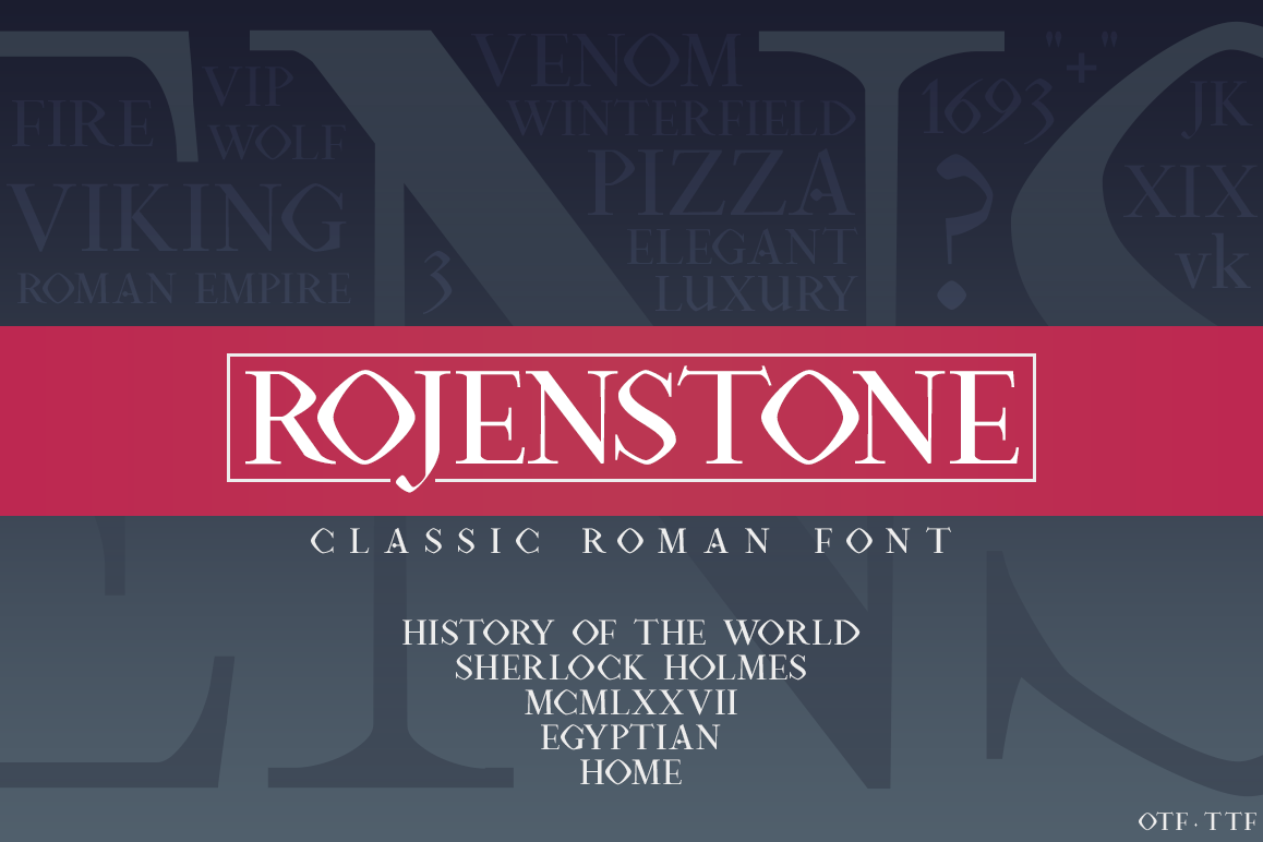 Rojenstone Font example image 1