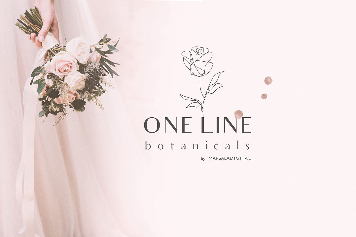 One Line Botanical Drawings Line Art Graphics example image 1