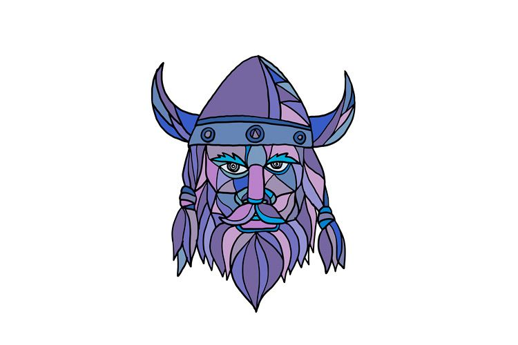 Viking Head Mascot Mosaic example image 1