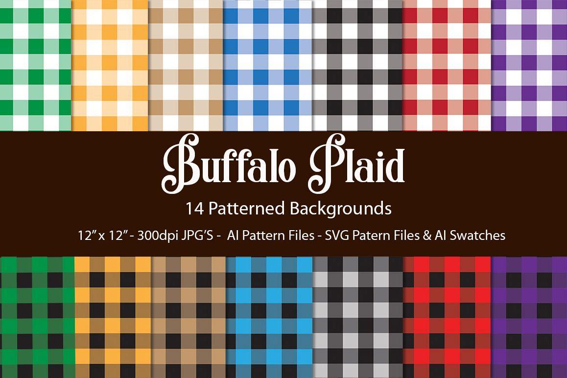 Buffalo Plaid Backgrounds SVG|Jpg|AI| Swatches example image 1