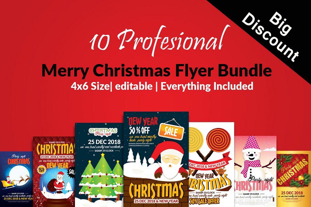 Christmas Flyers.10 Christmas Flyers Bundle