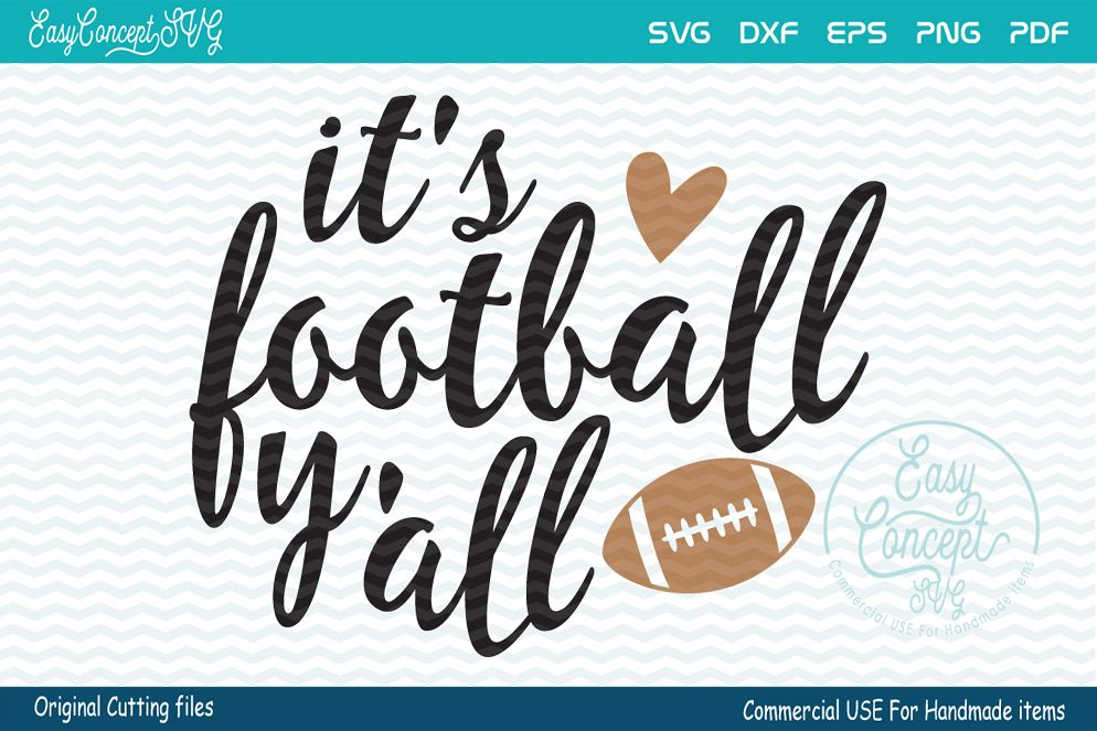 It's football y'all Svg example image 1