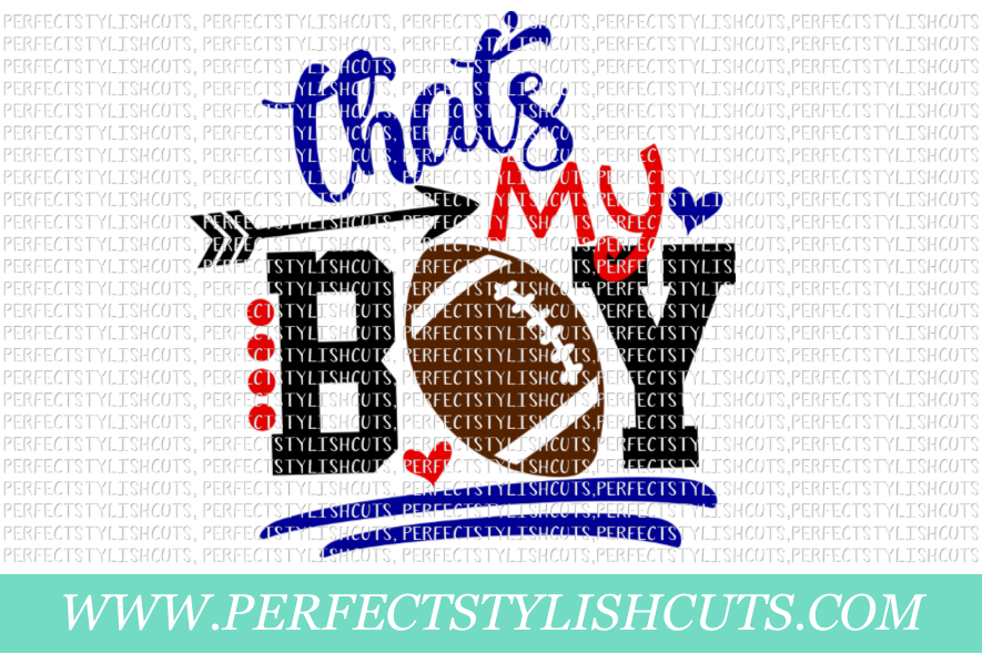 Football SVG - That's My Boy SVG, Sports SVG, Football Mom example image 1