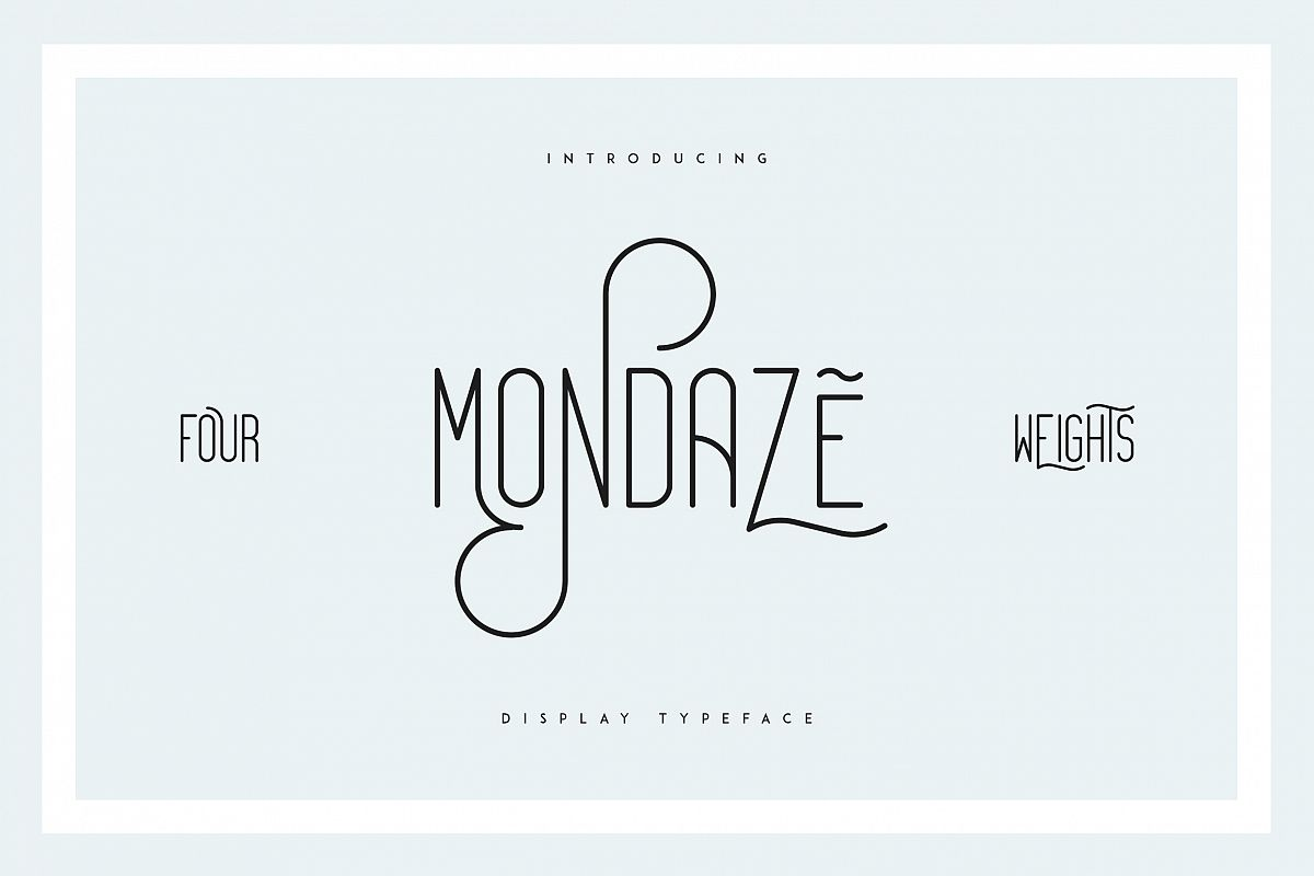 Mondaze Typeface - 4 Weights example image 1