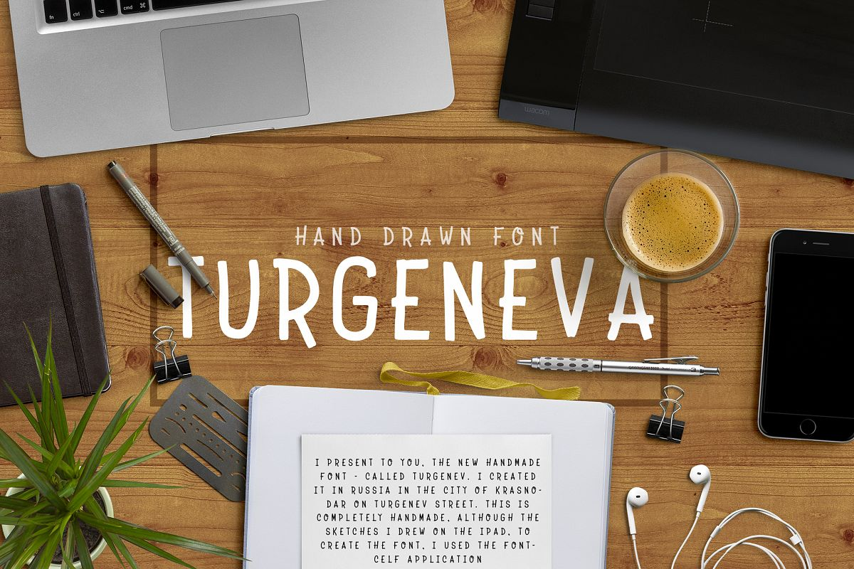 Turgeneva Handdrawn Font example image 1