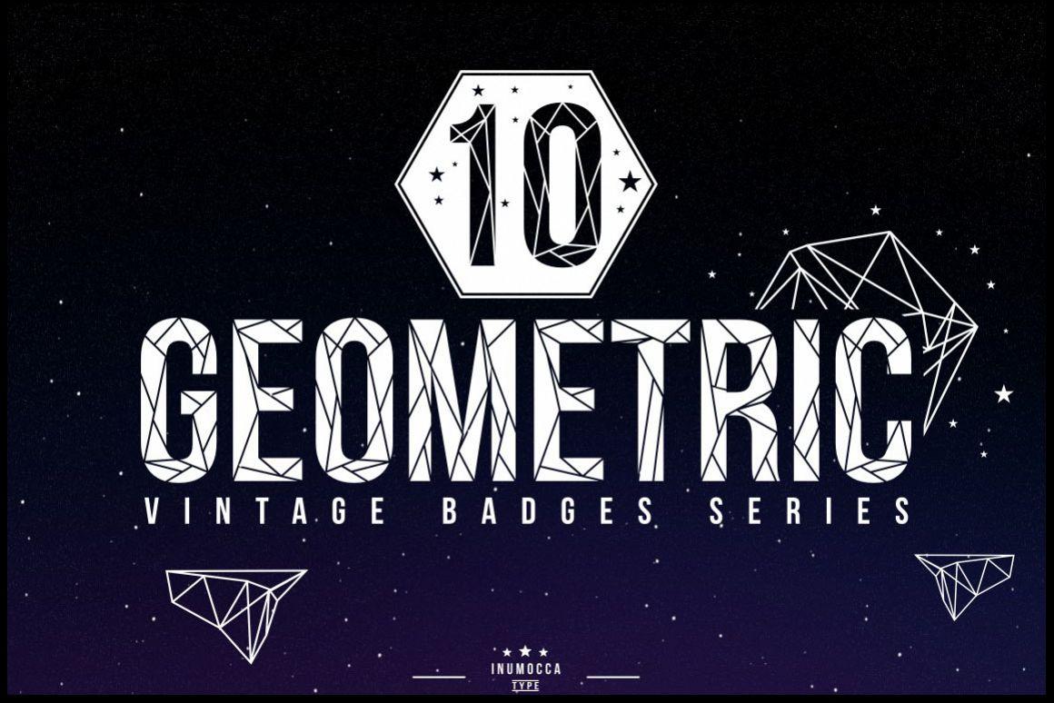 10 Geometric Vintage Badges example image 1