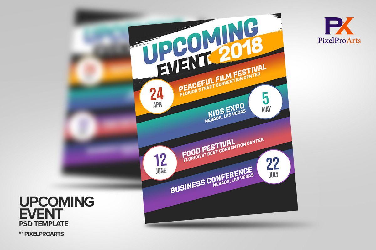 Upcoming Event Calendar Psd Template