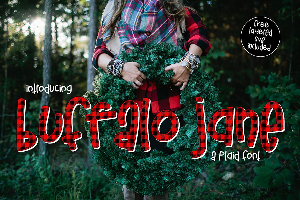Buffalo Jane a Plaid Font example image 1