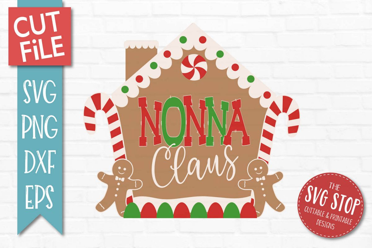 Nonna Claus Gingerbread Christmas SVG, PNG, DXF, EPS example image 1