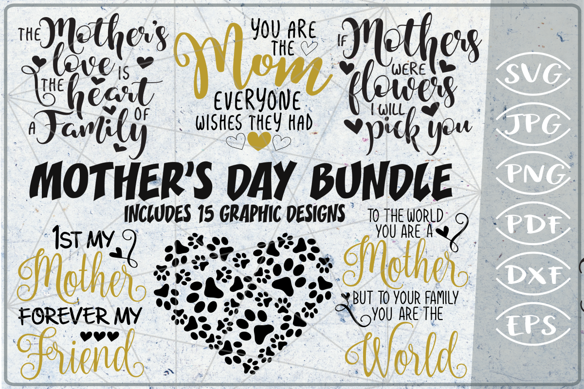 Mother's Day Bundle SVG Cutting Files example image 1