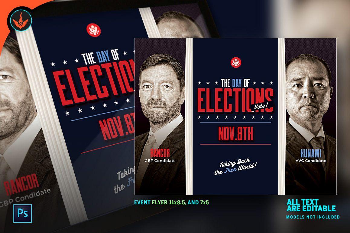 Election Flyer Photoshop Template By Se Design Bundles